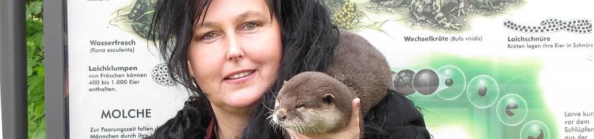 Heidy Davis mit Otter Nemo