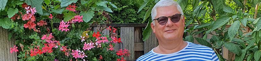 Michael Köller-Thomas im Garten